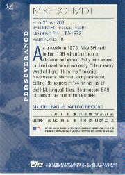 2002 Topps American Pie #34 Mike Schmidt back image