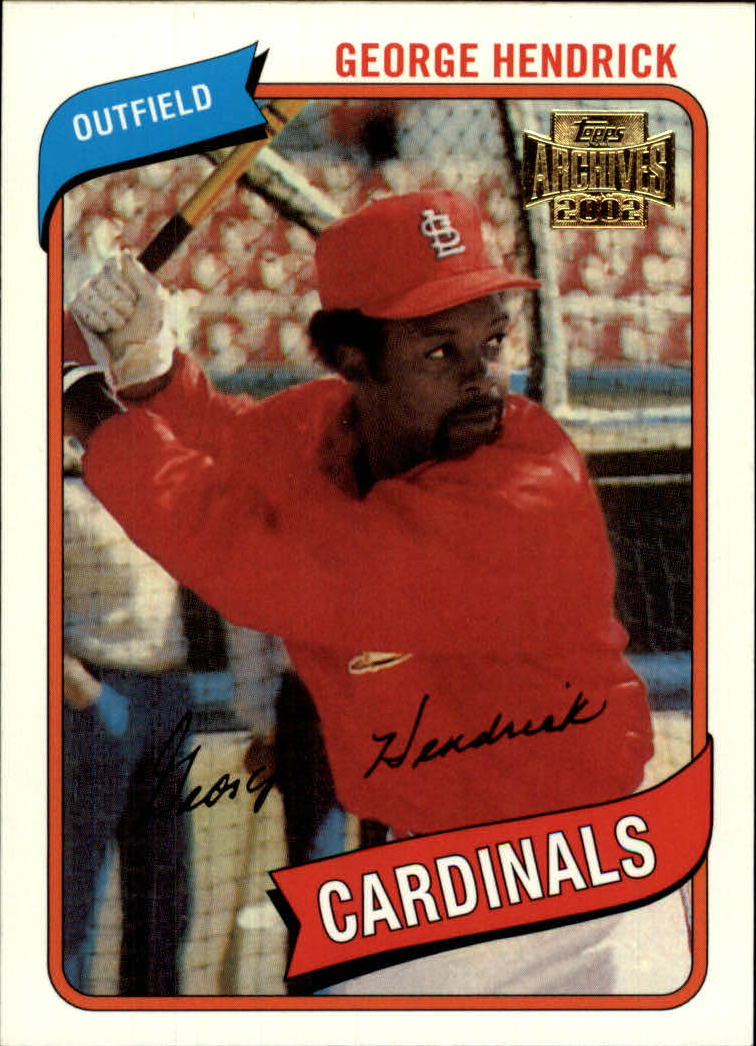 2002 Topps Archives #53 George Hendrick 80