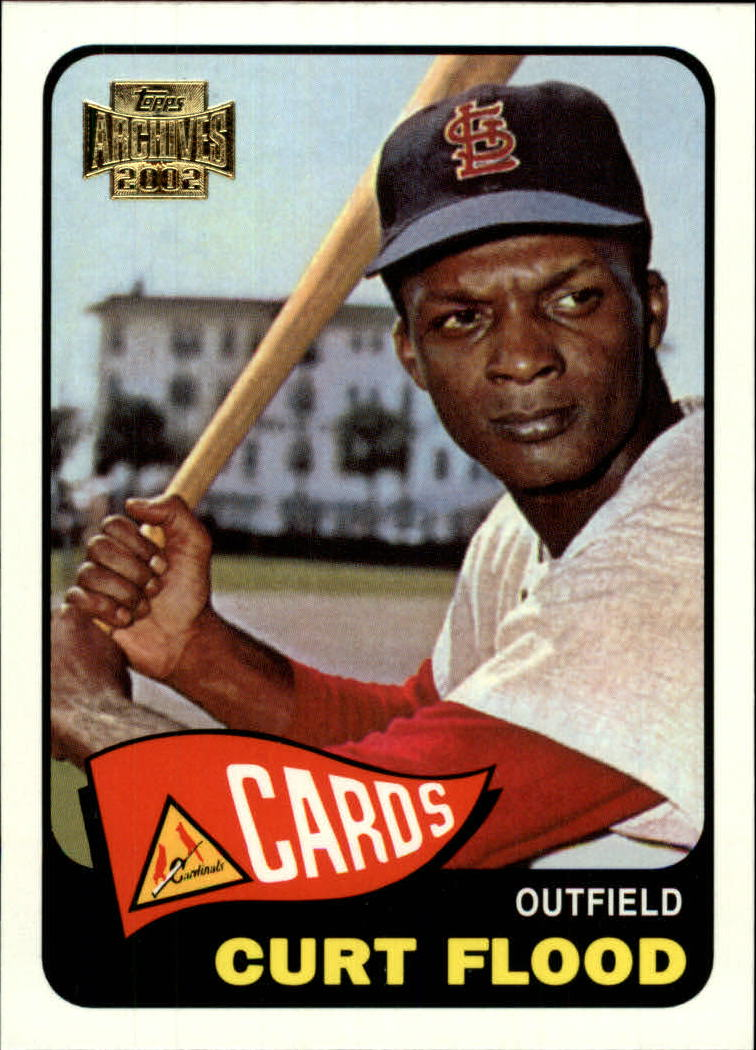 2002 Topps Archives #84 Curt Flood 65