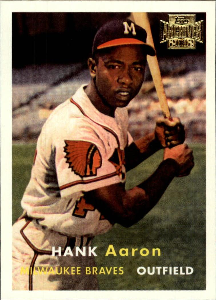 2002 Topps Archives #168 Hank Aaron 57