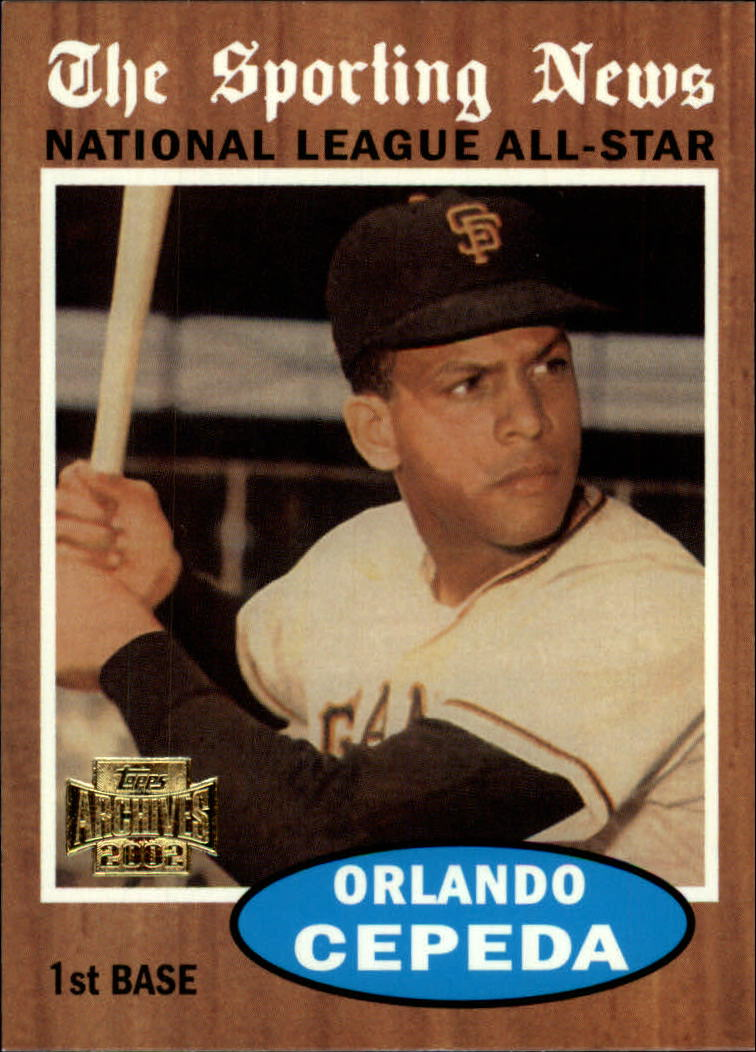 2002 Topps Archives #186 Orlando Cepeda 62 AS