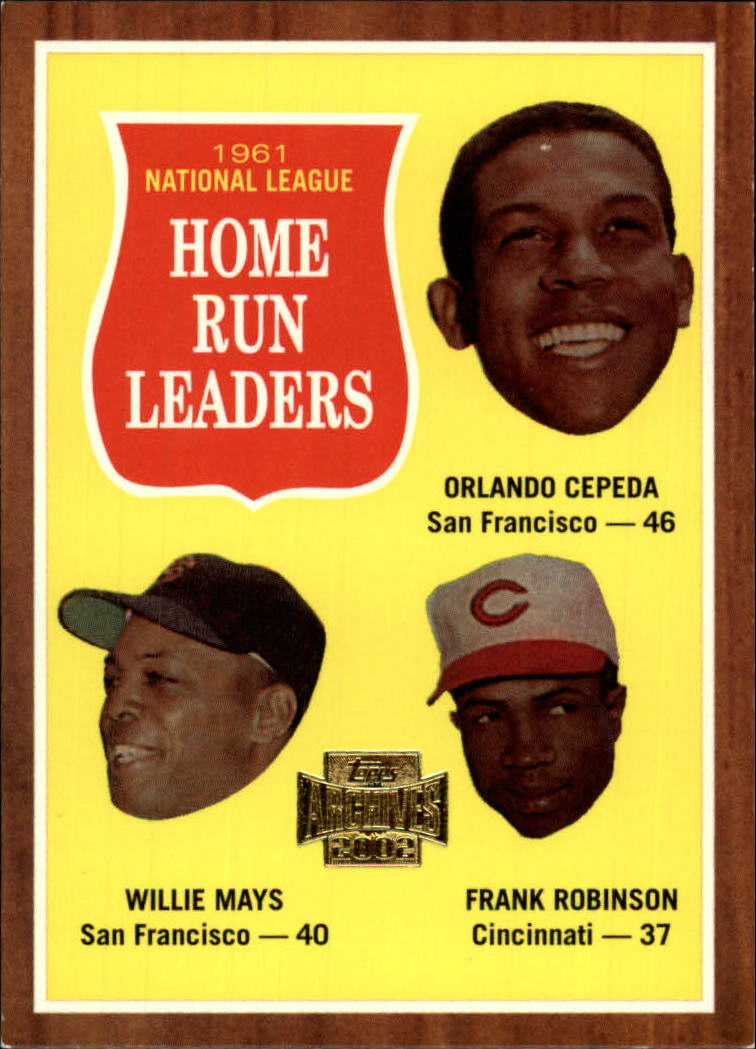 2002 Topps Archives #192 1962 NL Home Run Ldrs