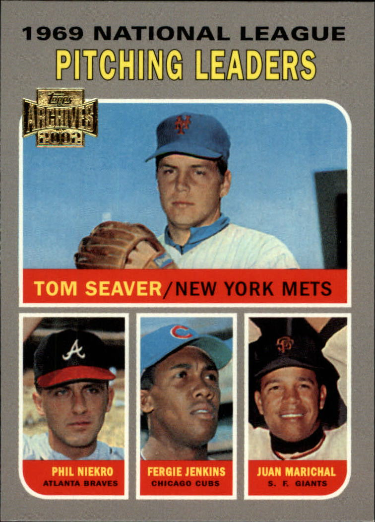 2002 Topps Archives #194 1970 NL Win Ldrs