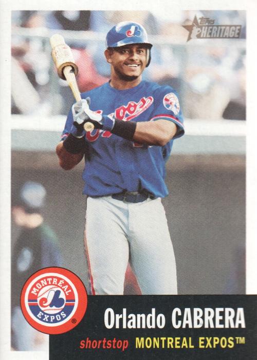 2002 Topps Heritage #231 Orlando Cabrera