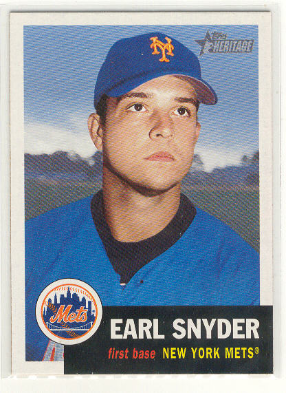 2002 Topps Heritage #396 Earl Snyder SP RC