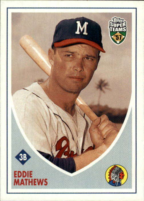2002 Topps Super Teams #34 Eddie Mathews