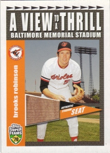 2002 Topps Super Teams A View To A Thrill Relics #VTBR Brooks Robinson 2