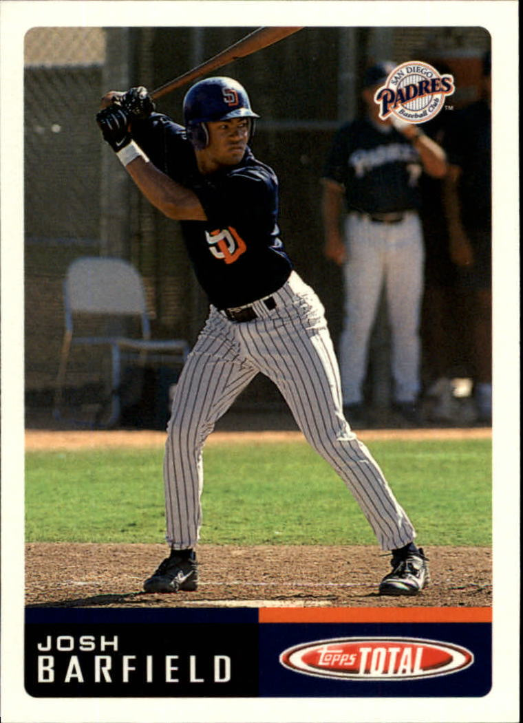 2002 Topps Total #8 Josh Barfield RC