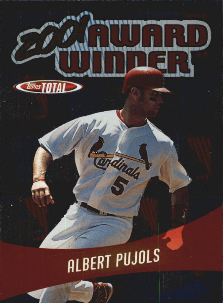 2002 Topps Total Award Winners #AW2 Albert Pujols