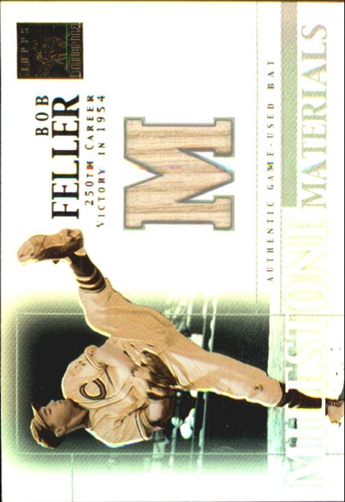 2002 Topps Tribute Milestone Materials #BF Bob Feller Bat
