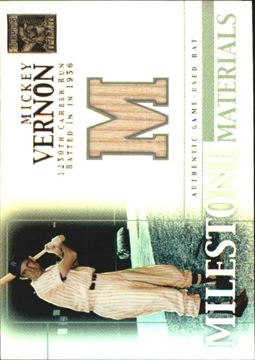 2002 Topps Tribute Milestone Materials #MV Mickey Vernon Bat