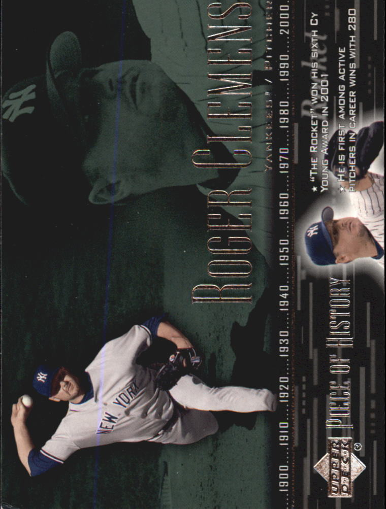 2002 UD Piece of History #41 Roger Clemens