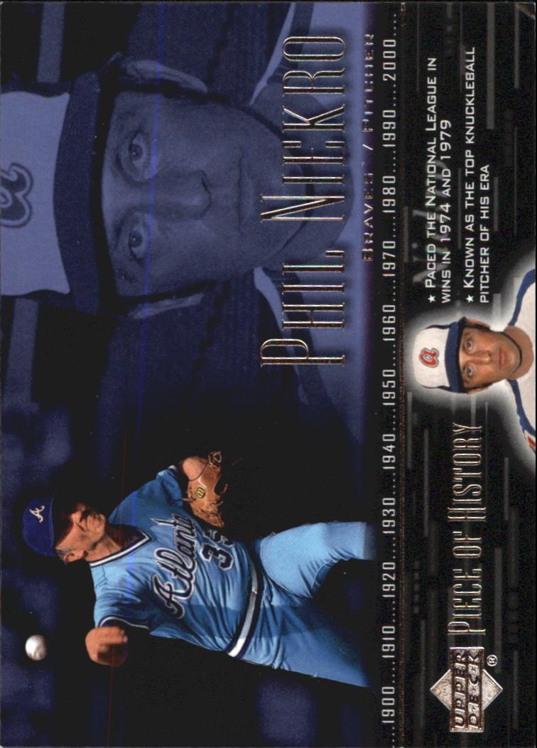 2002 UD Piece of History #47 Phil Niekro