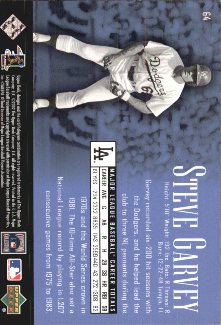 2002 UD Piece of History #64 Steve Garvey back image