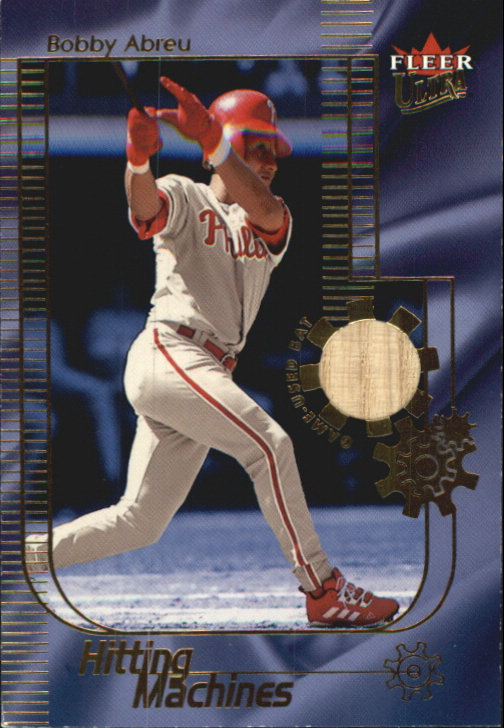 2002 Ultra Hitting Machines Game Bat #1 Bobby Abreu