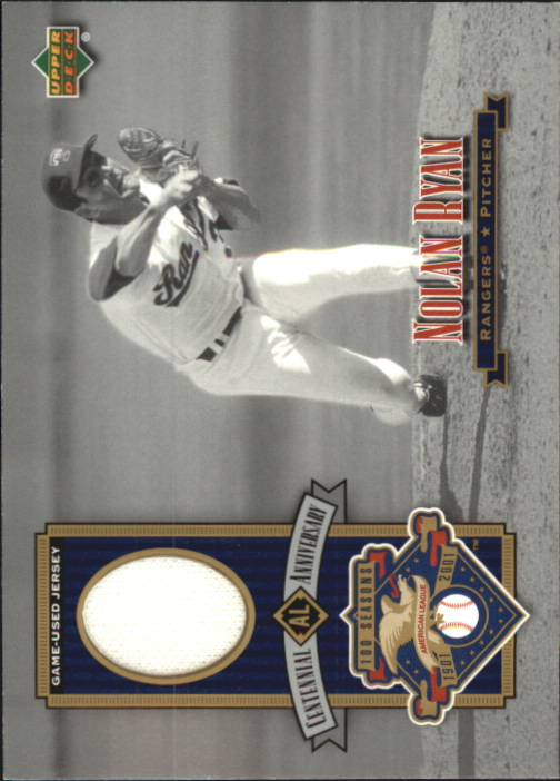 2002 Upper Deck AL Centennial Memorabilia #ALJNR Nolan Ryan Jsy