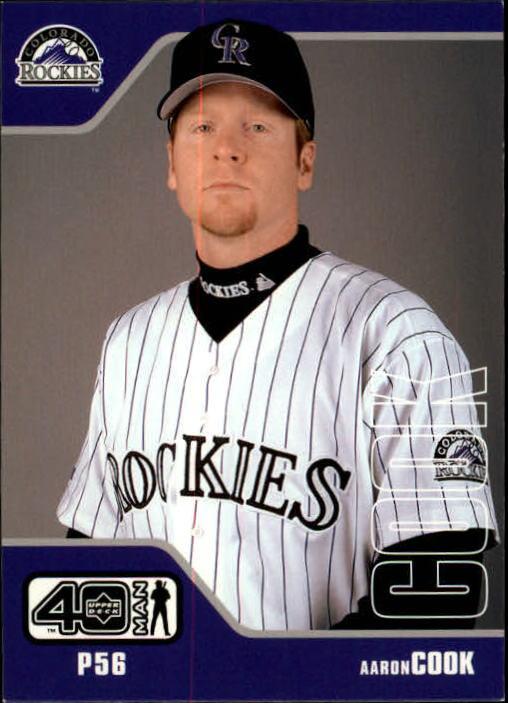 2002 Upper Deck 40-Man #986 Aaron Cook RC
