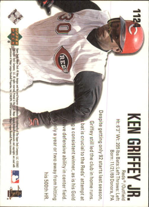 2002 Upper Deck 40-Man #1124 Ken Griffey Jr. PC back image
