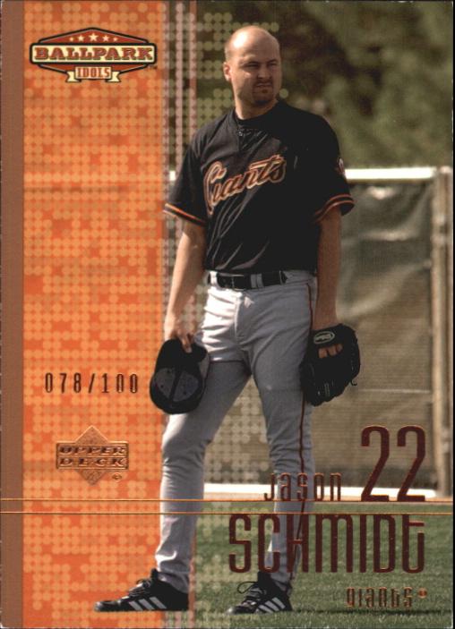 2002 Upper Deck Ballpark Idols Bronze #153 Jason Schmidt