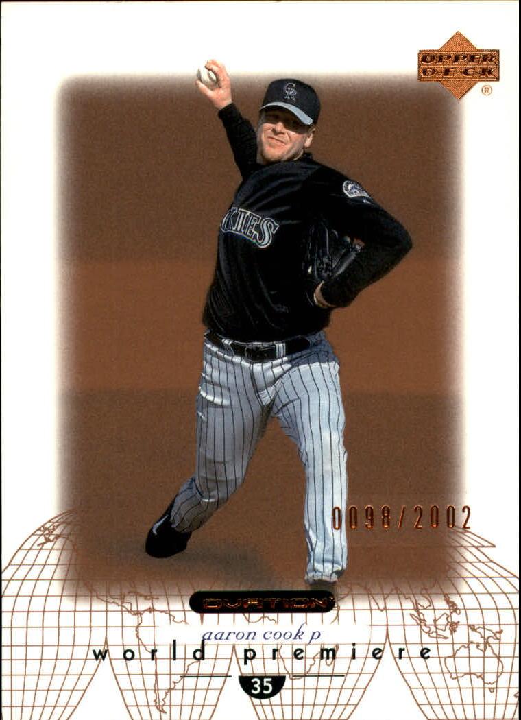 2002 Upper Deck Ovation #161 Aaron Cook WP RC