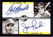 2002 Upper Deck Vintage Signature Combos #VSBR Sal Bando/Joe Rudi