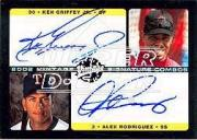 2002 Upper Deck Vintage Signature Combos #VSGR Ken Griffey Jr./Alex Rodriguez