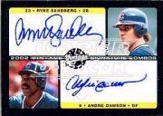 2002 Upper Deck Vintage Signature Combos #VSSD Ryne Sandberg/Andre Dawson
