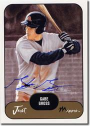 2002 Just Prospects Autographs #16 Gabe Gross/200