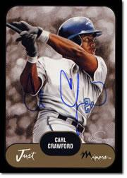 2002 Just Prospects Autographs Black #8 Carl Crawford