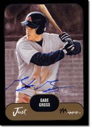 2002 Just Prospects Autographs Black #16 Gabe Gross