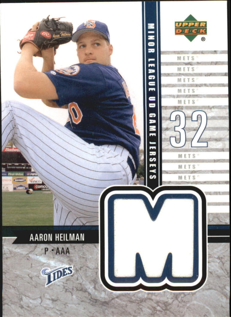 2002 UD Minor League Game Jerseys #JAH Aaron Heilman