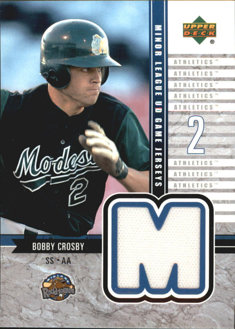 2002 UD Minor League Game Jerseys #JCR Bobby Crosby