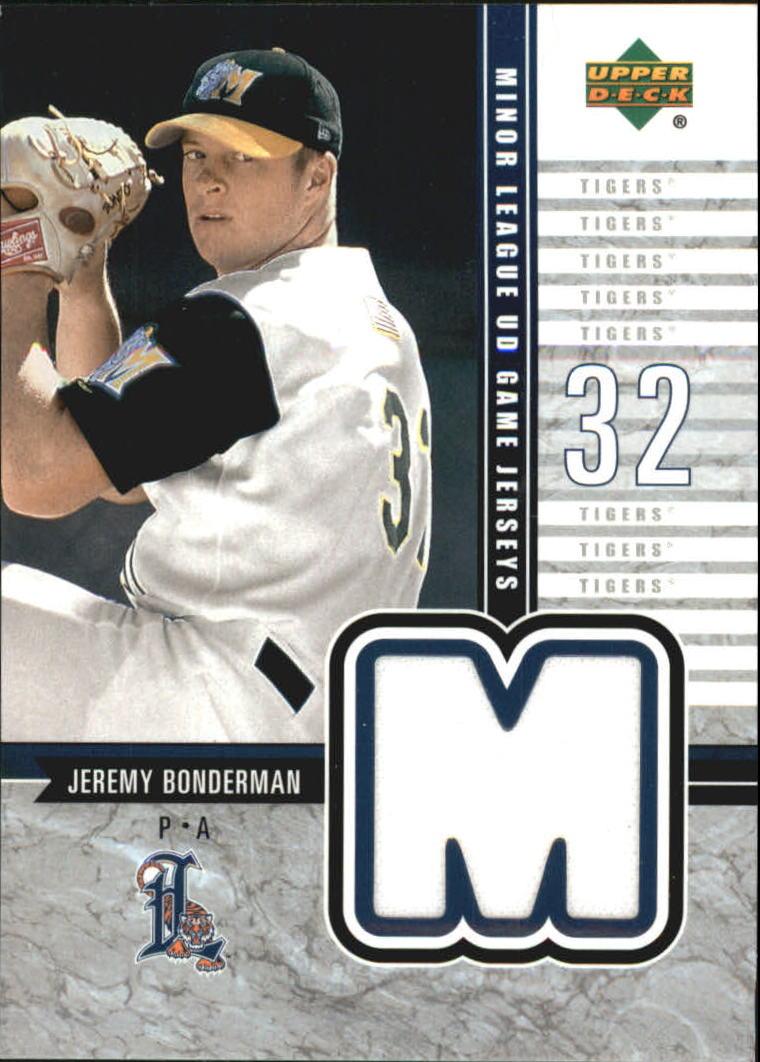 2002 UD Minor League Game Jerseys #JJB Jeremy Bonderman