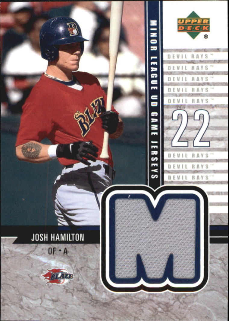2002 UD Minor League Game Jerseys #JJH Josh Hamilton