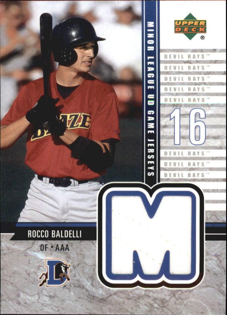 2002 UD Minor League Game Jerseys #JRB Rocco Baldelli