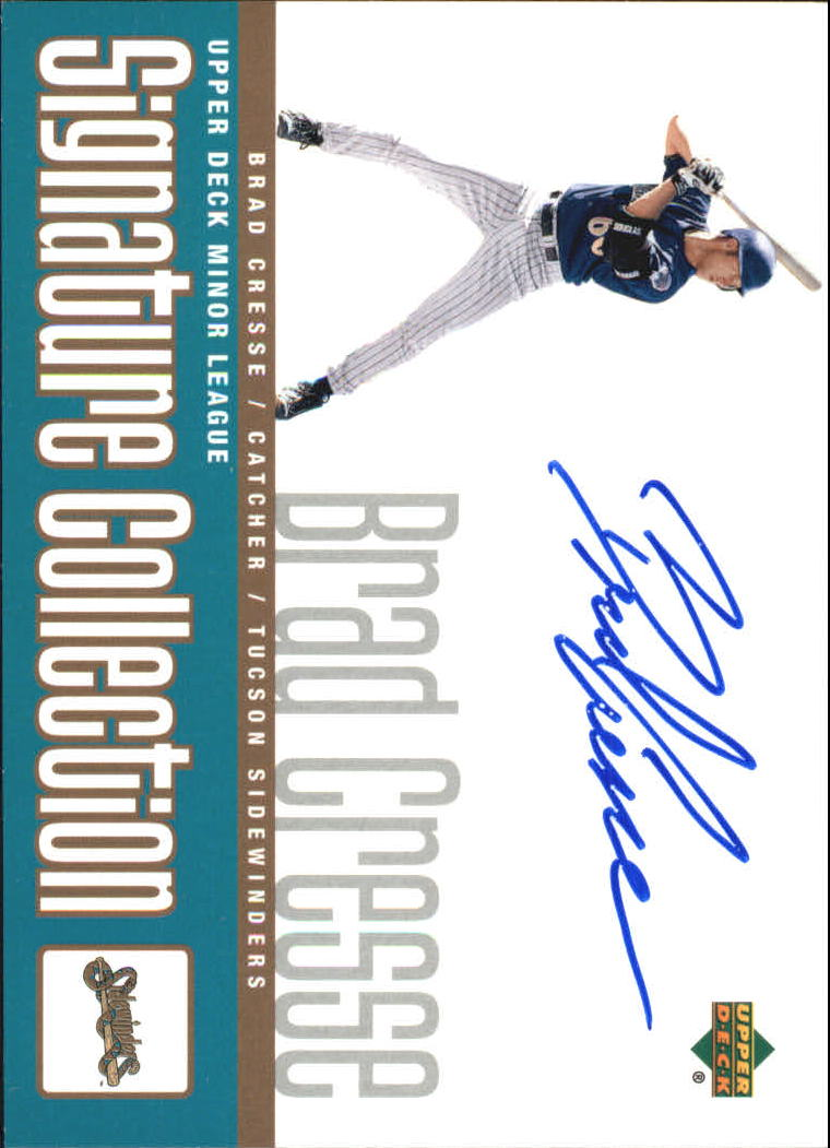 2002 UD Minor League Signature Collection #BC Brad Cresse