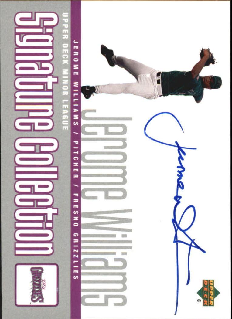 2002 UD Minor League Signature Collection #JE Jerome Williams