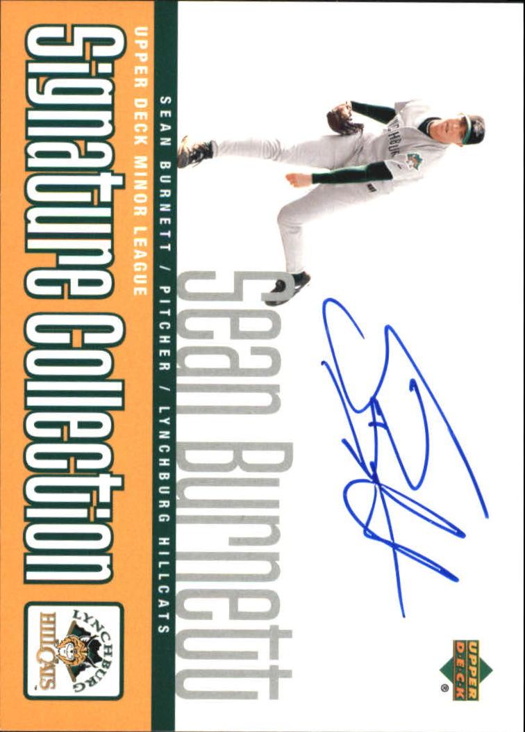 2002 UD Minor League Signature Collection #SB Sean Burnett