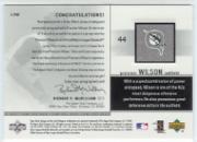 2002 Upper Deck Game Jersey Autograph #JPW Preston Wilson back image