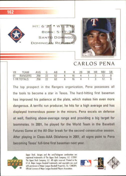 2002 Upper Deck #162 Carlos Pena back image