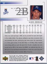 2002 Upper Deck #187 Luis Ordaz back image