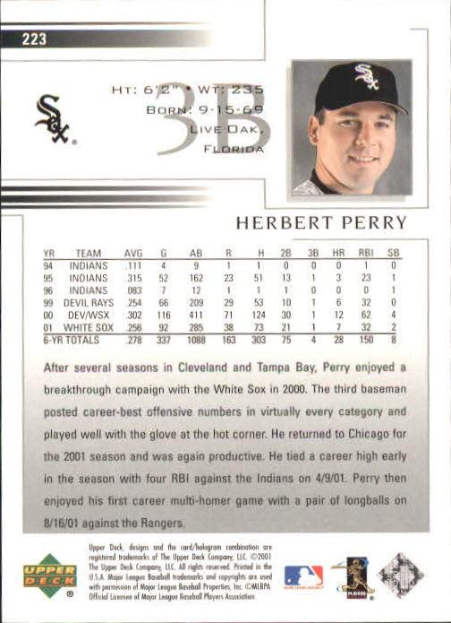 2002 Upper Deck #223 Herbert Perry back image