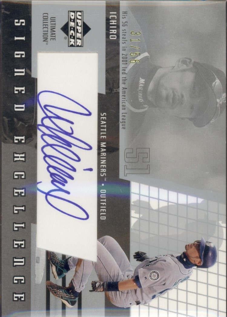 2002 Ultimate Collection Signed Excellence #I1 Ichiro Suzuki/56