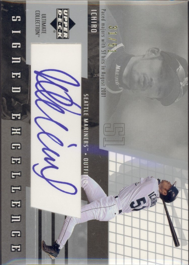2002 Ultimate Collection Signed Excellence #I2 Ichiro Suzuki/51