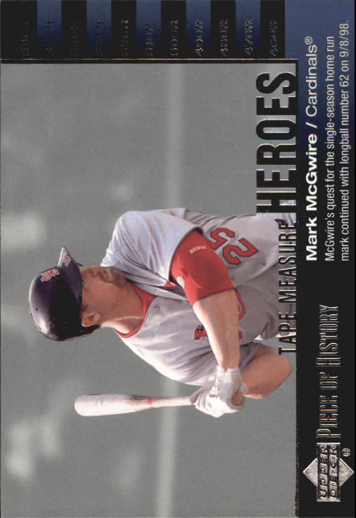 2002 UD Piece of History Tape Measure Heroes #TM5 Mark McGwire