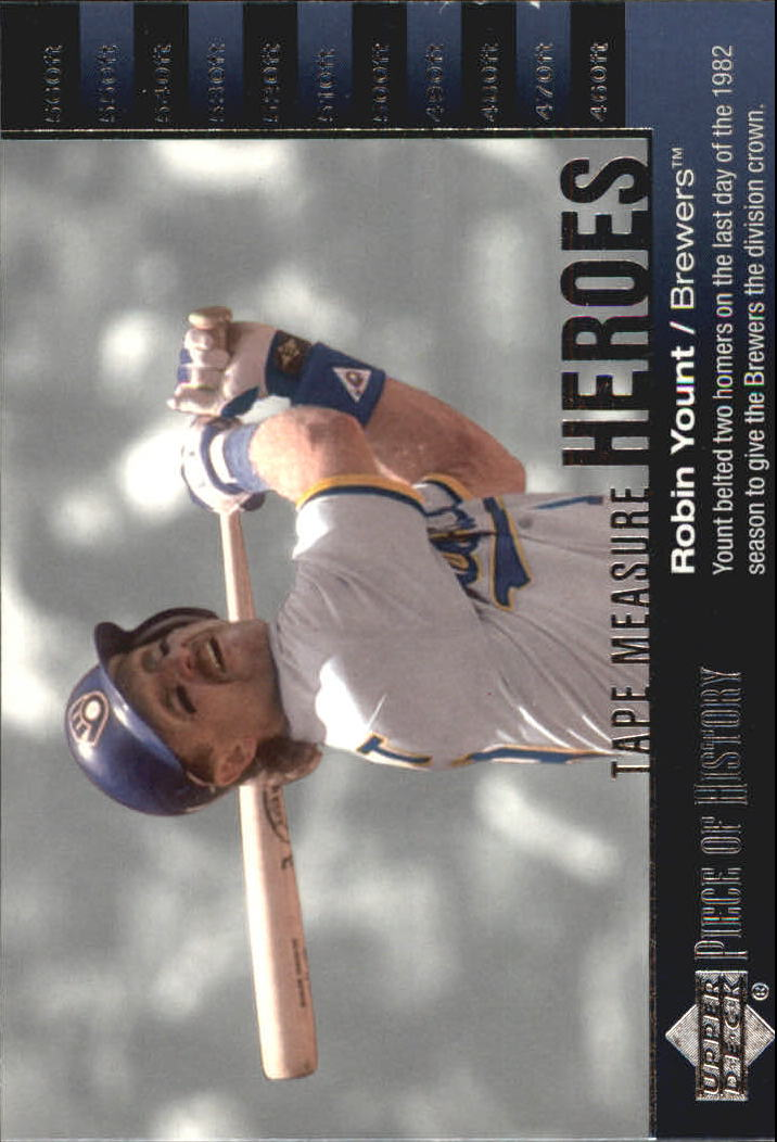 2002 UD Piece of History Tape Measure Heroes #TM24 Robin Yount