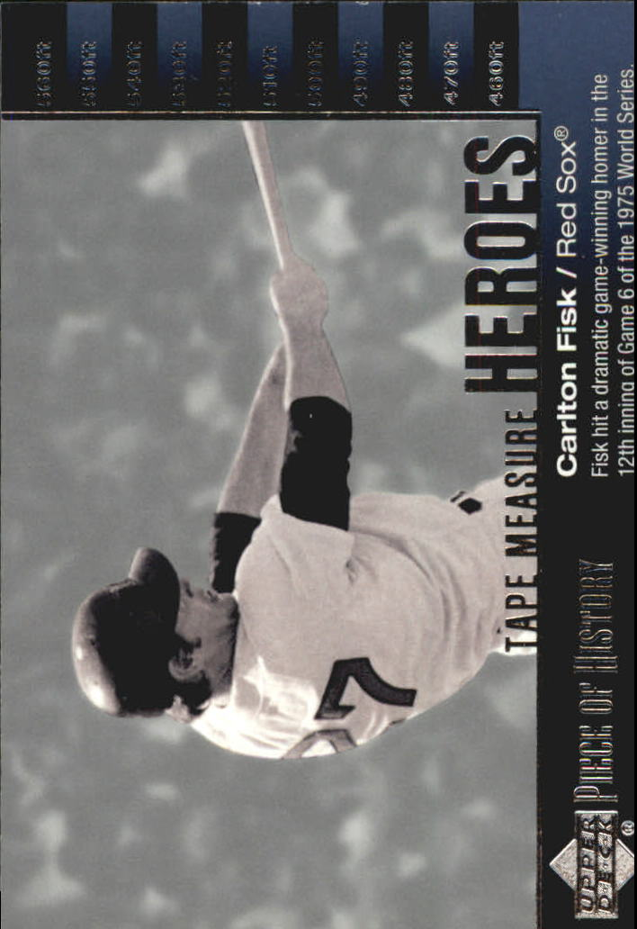 2002 UD Piece of History Tape Measure Heroes #TM28 Carlton Fisk