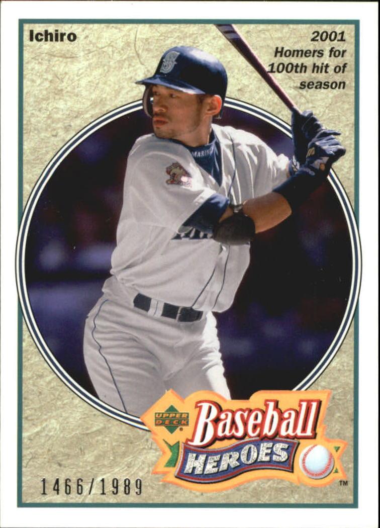 2002 UD Authentics Heroes of Baseball Autographs #SHBI Ichiro Suzuki/125