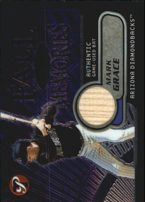 2002 Topps Pristine Fall Memories #MG Mark Grace Bat A
