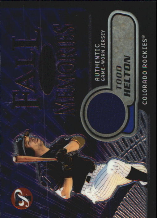 2002 Topps Pristine Fall Memories #TH Todd Helton Jsy B